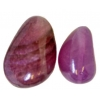 20x30mm Natural White Quartz Coated Purple Nuggets